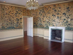 Dark Stained Flooring in Historic Home
